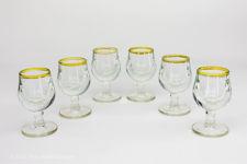 French Gold-rimmed Liqueur Glasses