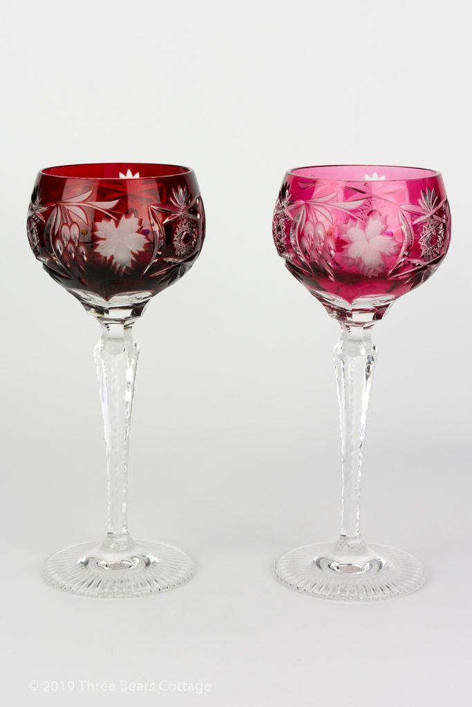 Nachtmann Traube Coloured Lead Crystal Wine Glasses