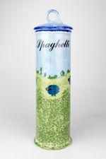 Price & Kensington Blue Sheep Design Spaghetti Jar With Lid