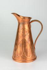 Joseph Sankey & Sons Art Nouveau One & A Half Pint Copper Jug