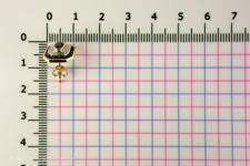Size of rectangular sapphire and diamond stud earrings