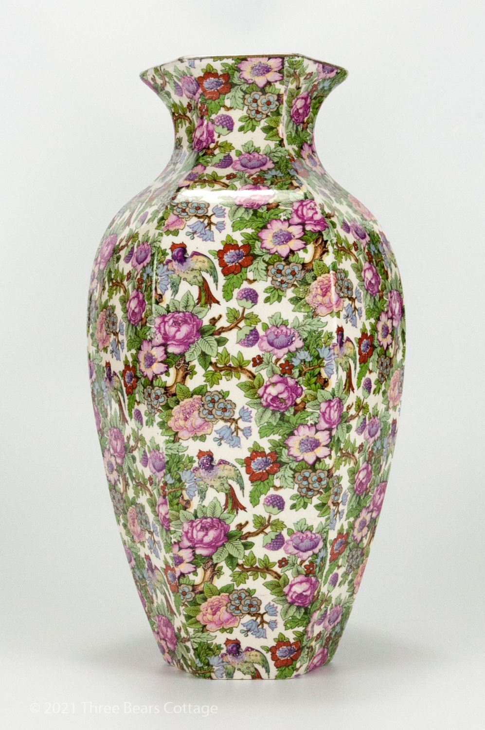 Side view 4 of large Crown Ducal chintz vase