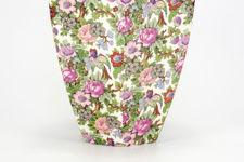 Pattern detail of large Crown Ducal chintz vase