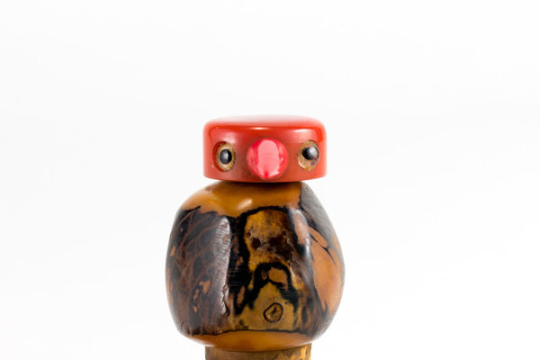 Main picture of Tagua Nut Bird Bottle Stopper With Pourer